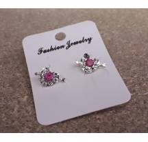Earrings heart arrow pink