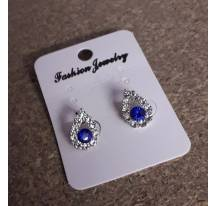 Earrings drop blue