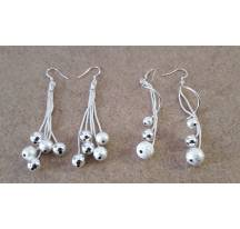Earrings balls silver