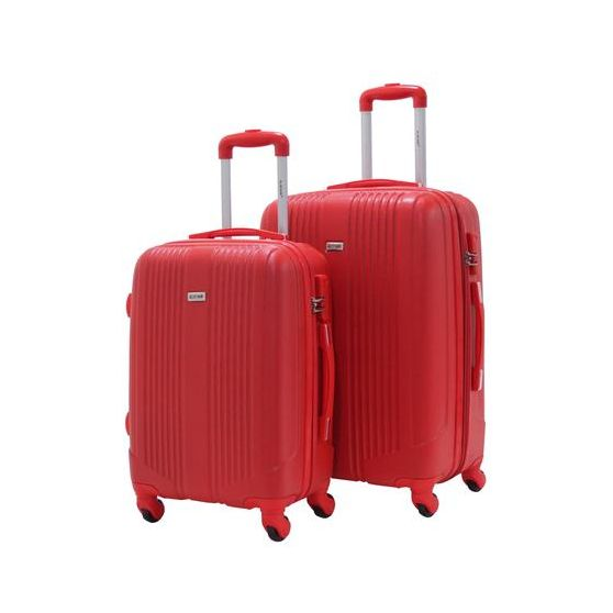 "ALISTAIR ""AIRO"" SET DE 2 VALISES MOYENNE ET GRANDE RED & RED"