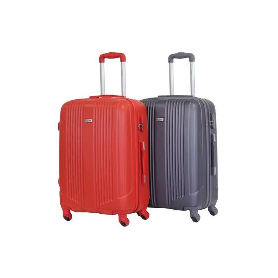 "ALISTAIR ""AIRO"" SET DE 2 VALISES MOYENS 65CM RED & GREY"