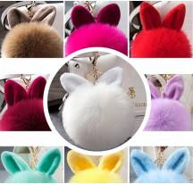 Keychain rabbit fur ball