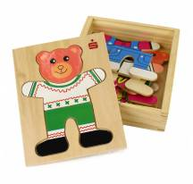Puzzle wooden teddy bear