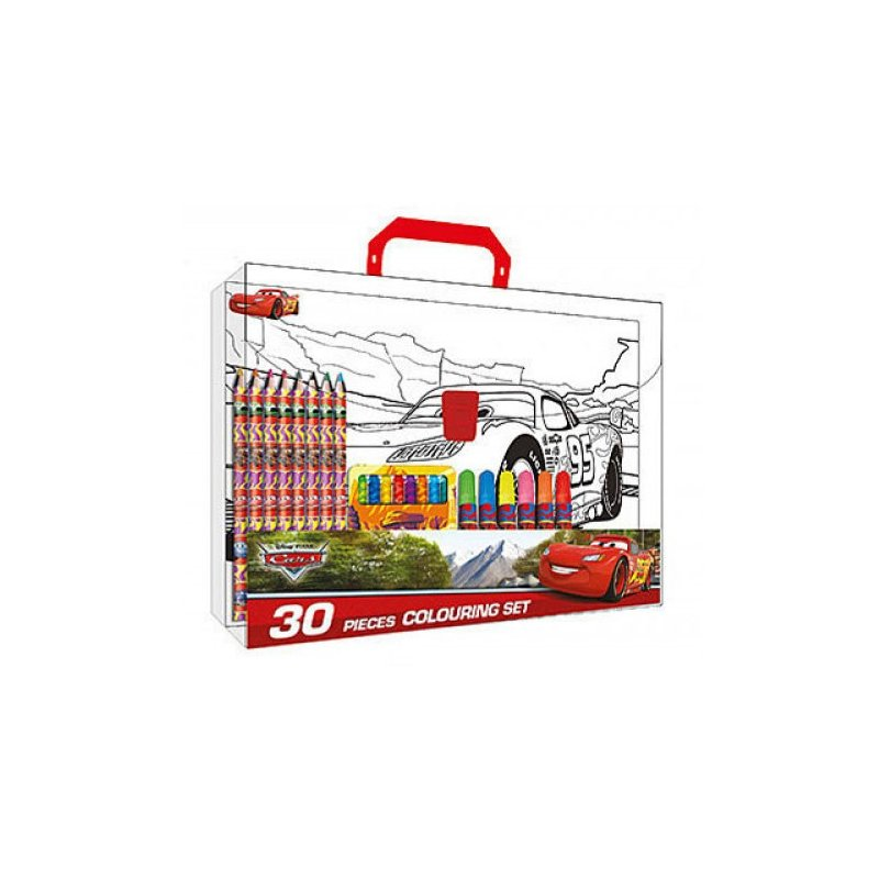 Mallette Coloriage Cars Markers Crayons Colored Pencils Pastels Drawings
