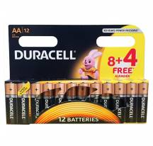 Pack of 12 batteries AA LR6 Duracell