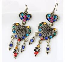 Earrings bronze stones colors