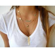 Grossiste Collier plume